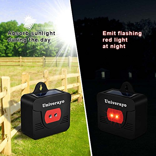 Univerayo Pack of 4 Deer Repellent Coyote Deterrent Solar Powered Predator Light Nocturnal Animal Deterants Predator Control Lights Fox Skunk Coyote Raccoon Repellent - Upgraded Version by Univerayo (Image #2)