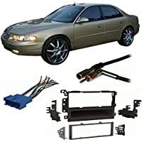Fits Buick Regal 1995-2004 Single DIN Stereo Harness Radio Install Dash Kit