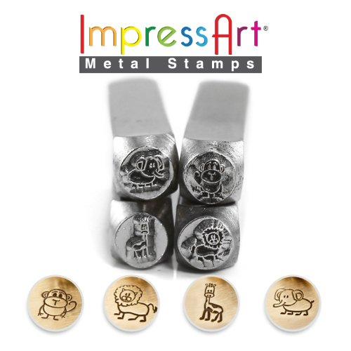 ImpressArt- Stick Zoo Animal Metal Design Stamp Pack by ImpressArt