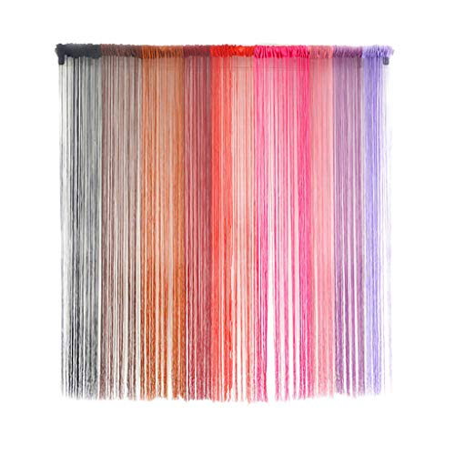 Goutique Decorative Door String Curtain Wall Panel Fringe Window Room Divider Blind Divider Tassel Screen Home Patio Net Fringe for Door Fly Screen Windows Divider Cut to Size (Midnight Showing Of Fifty Shades Of Grey)