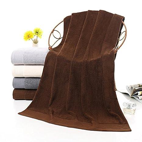 mmynl Pure algodón toalla de baño adulto macho parejas Presidente toalla de baño marrón oscuro 140 x 72 cm: Amazon.es: Hogar
