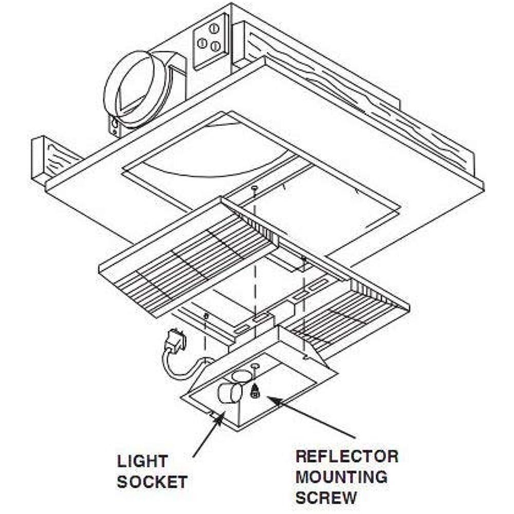 Broan-Nutone 668RP Ceiling Bathroom Exhaust Fan Light ...