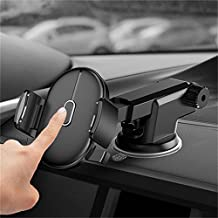 Teammao Car Holder,Universal Adjustable One Touch Long Arm Car Mount Holder with Dashboard & Windshield for iPhone 8//7/7Plus/6s/6/5S, Galaxy S5/S6/S7/to 2inch-3.1inch width screen Phone (Black)
