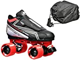 Customized Tarmac Remix Quad Roller Speed Skates Red Dart Wheels Bonus DS Skate Bag