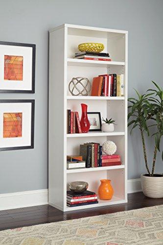 Amazon ClosetMaid 13504 Decorative 5 Shelf Premium Bookcase White Home Kitchen