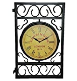 Outdoor Expressions Kensington Station London, 1879, Double Wall Clock For Patio or Garden