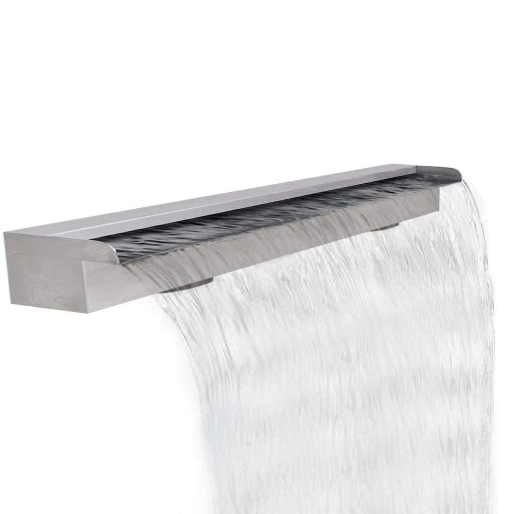 Home & Garden Decor Fountains & Ponds Fountains & Waterfalls Rectangular Waterfall Pool Fountain Stainless Steel 47.2''