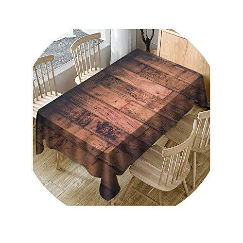 Retro Bionic Wood Grain Polyester Tablecloth Rectangular for sale  Delivered anywhere in USA