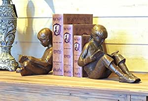 Lesende Niños, Figura de bronce