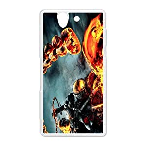 superhero fil Ghost Rider Sony Xperia Z Hard Plastic White Shell Case Cover (HD image)