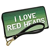 Wallet Clutch I Love Red Heads St. Patrick's Day Green Fade with Removable Wristlet Strap Neonblond