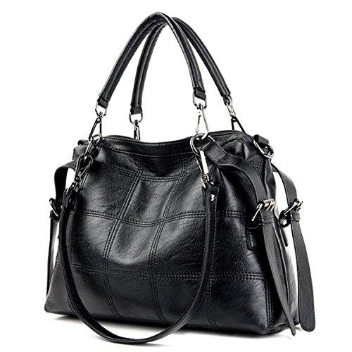 Messenger Bag Borsa Tracolla Selvaggio Moda Femminile Black