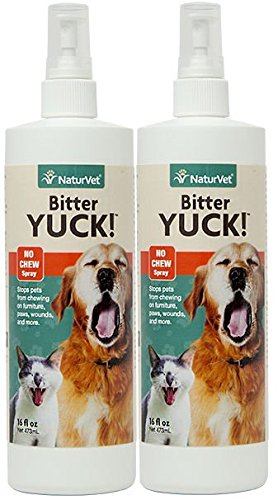 NaturVet BITTER YUCK No Chew Spray For Dog/Cat/Horse - Water Based 16 oz 2 PACK - Bitter Yuck No Chew Spray