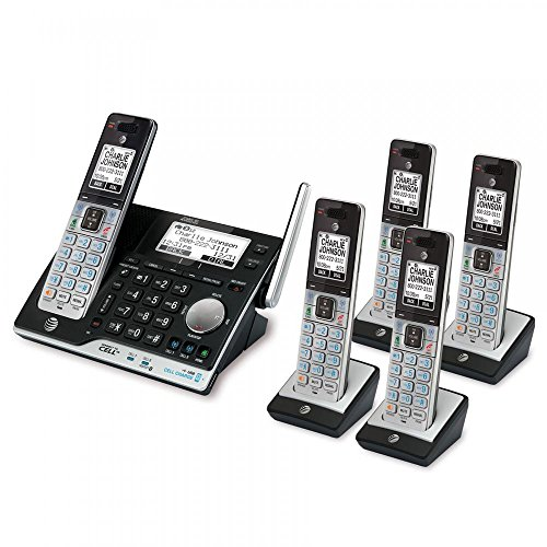 Use Multi Line Phone - AT&T 5 Handset Answering System with Bluetooth Connect to Cell and Caller ID/Call Waiting - CLP99553