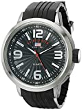 U.S. Polo Assn. Men's Dial Rubber Strap Watch Black US9054