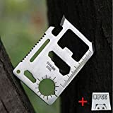 3 pcs opcc 11 in 1 Multi Tool Card Survival Credit Card Tool Fits Perfect in Your Wallet with Knife Blade
