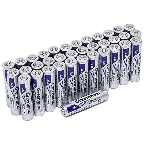 Greenmax 1.5V AAA Alkaline Batteries AAA Performance High Ca