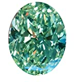 RINGJEWEL 6.42 ct VVS1 Oval Cut Real Loose Moissanite Use 4 Pendant/Ring Blue Color