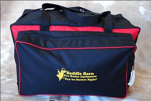 SADDLE BARN RED PRO Rodeo Super PRO Gear Bag Cordura 12 x 14 x 24