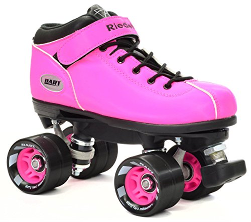 Riedell Pink Dart Quad Roller Derby Speed Skate w/ Black ...