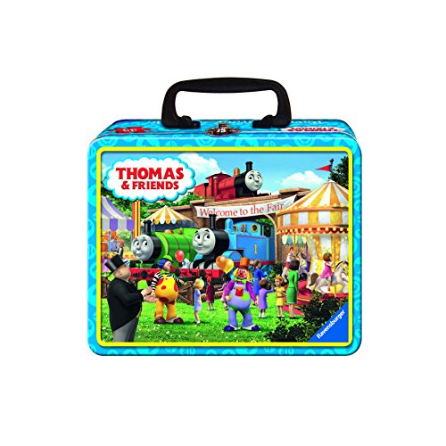 Ravensburger Thomas The Tank Puzzle - Ravensburger - Thomas & Friends Tin Box Puzzle - Fair Bound 35 Piece Jigsaw Puzzle for Kids – Every Piece is Unique, Pieces Fit Together Perfectly