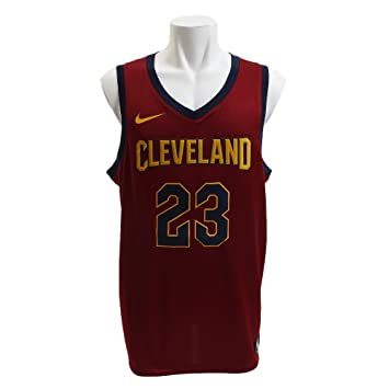 Nike Cle M Nk Swgmn JSY Road Camiseta 2ª Equipación Cleveland Cavaliers 17-18 de Baloncesto, Hombre, Team Red/University Gold/College Navy, S: Amazon.es: ...