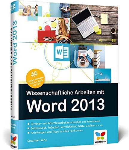 Wissenschaftliche Arbeiten Mit Word 2013 9783842101111
