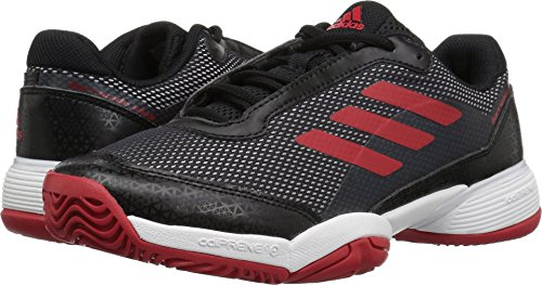 Barricade Tennis Adidas Shoes (adidas Unisex Barricade Club Tennis Shoe, Black/Scarlet/White, 2.5 M US Little Kid)