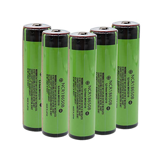 6 Shoppinghere Protected Button Top NCR18650B 3400mAh 3.7v Batteries