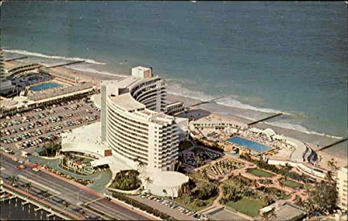 Air View Of The World Renowned Fontainebleau Hotel Miami Beach