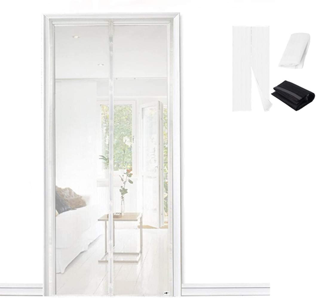 La puerta de la pantalla magnética mantiene a los insectos fuera de la mosquitera, mantiene automáticamente el aire fresco para balcón, sala de estar, dormitorio, blanco: Amazon.es: Bricolaje y herramientas
