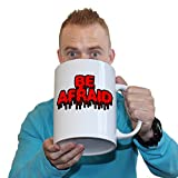 Funny Halloween - 123t Be Afraid - Horror Spooky Cool Trick Or Treat GIANT MUG