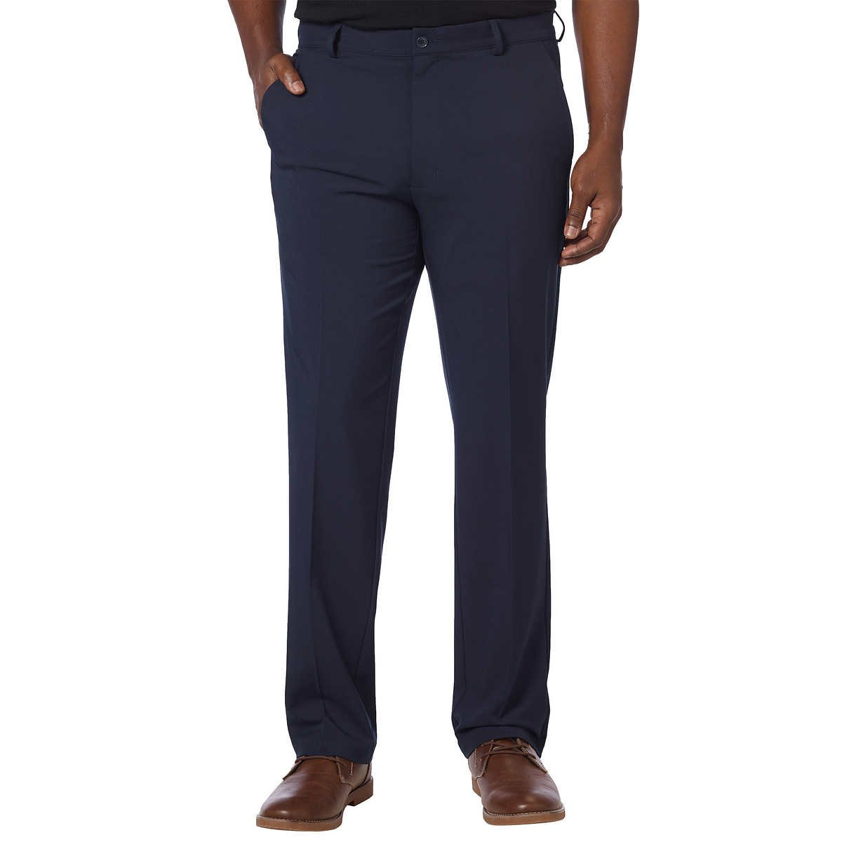Greg Norman Mens ML75 Ultimate Travel Golf Pants (34W x 34L, Navy)