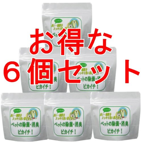 消臭除菌の衛生洗剤 「ペットの消臭除菌!ピカイチ」 350グラム入り35回分 お得な6個セット B00948PRKW