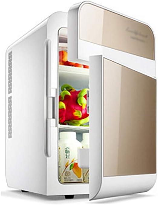 20L Mini Frigorífico Doble núcleo Doble Puerta 12V Refrigerador de ...