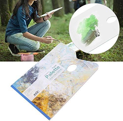 Palette jetable de 25 feuilles palette d/étachable de papier blanc