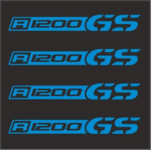 """4pcs Set BMW R 1200 GS Decal Sticker M1 4"""" x1/2"""" Blue for sale  Delivered anywhere in Canada"""