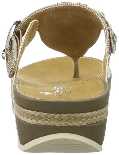 amp; clogs Synthetic Rieker gold women's rose mules twTTq