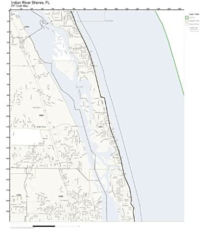 Indian River Florida Map.Amazon Com Zip Code Wall Map Of Indian River Shores Fl Zip Code