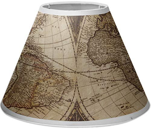 RNK Shops Vintage World Map Empire Lamp Shade (World Map Lamp Shade)