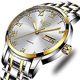 Mens Watches Fashion Simple Waterproof Quartz Sports Watch Stainless Steel Wrist Watch Auto