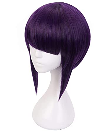 C Zofek My Hero Academia Anime Jiro Kyoka Cosplay Wig Dark Purple Purple