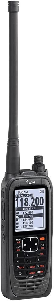 ICOM A25C Handheld Airband Radio Communication Channels Only