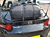 Convertible Trunk Luggage Rack - Waterproof Bag Straps Onto Trunk Without a Rack. Sits on Soft Mat to Protect Paintwork. Hand Made in UK Since 2008