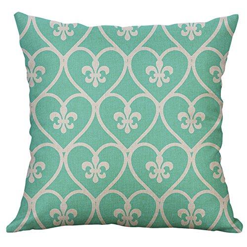 Littay Pillowcase 18inch x 18inch,Mustard Pillow Case Geometric Fall Autumn Cushion Cover Decorative ()
