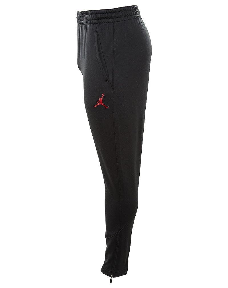 bc42e2a0e37f Amazon.com  Nike Mens Jordan 360 Fleece Tapered Sweatpants Black Infrared  23 808691-010 Size Large  Sports   Outdoors