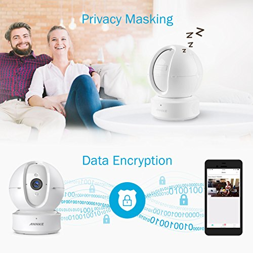 ANNKE WiFi IP Camera, Nova Orion 1080P HD Pan/Tilt Home Security Camera, Work with Alexa Echo Show/Fire TV, Google Assistant, Cloud Service Available, White