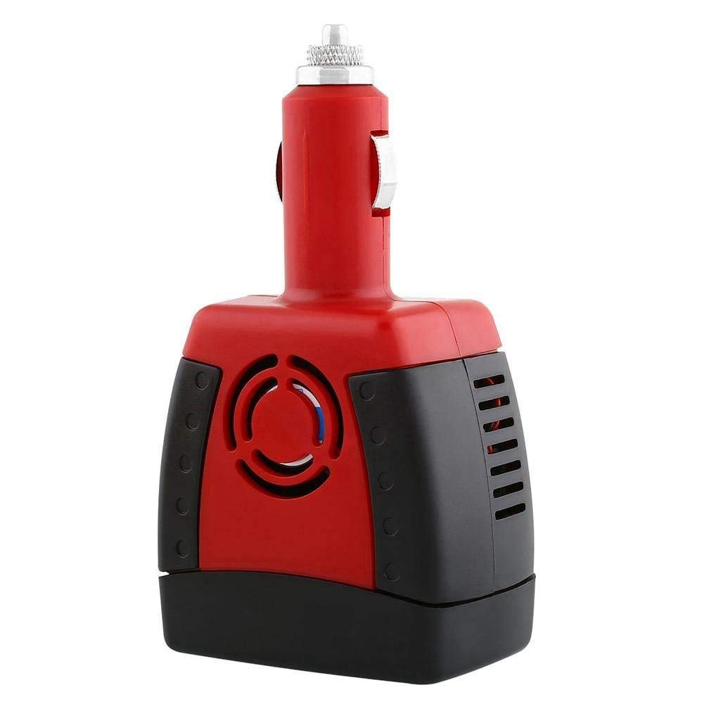 SODIAL Adaptateur de Tension de Sortie de Voiture de CC 12V a CA 220V dinverseur de Puissance de 150W avec Les Ports de Charge 0.5A USB