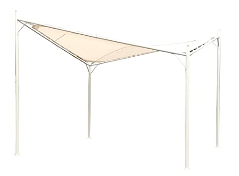 Gazebo Da Giardino 4x4 : Festnight gazebo padiglione tenda tettoia in beige m telaio in