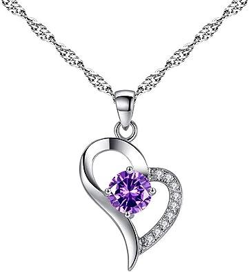 💦Qiiueen💦Collares Mujer, Colgante Corazón, Collar De Cristal De Amor En Forma: Amazon.es: Juguetes y juegos